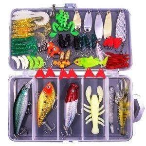 77Pcs Fishing Lures Kit Set for Salmon