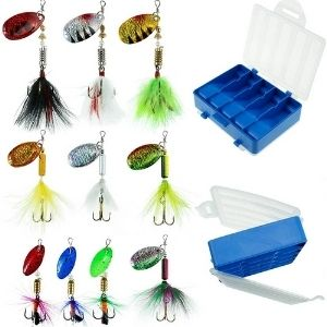FOUCECLAUS Fishing Lures 10pcs Spinner Lures