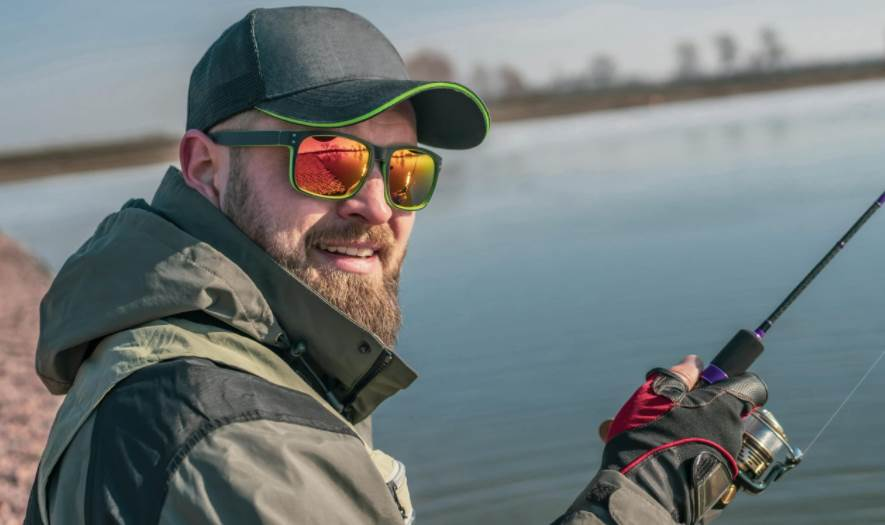 Image of a person Wearing Polarized fishing sunglasses