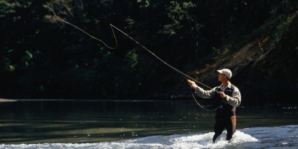 Image of a person doing fly fishing