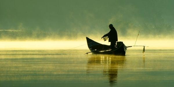 Image of a person fishing