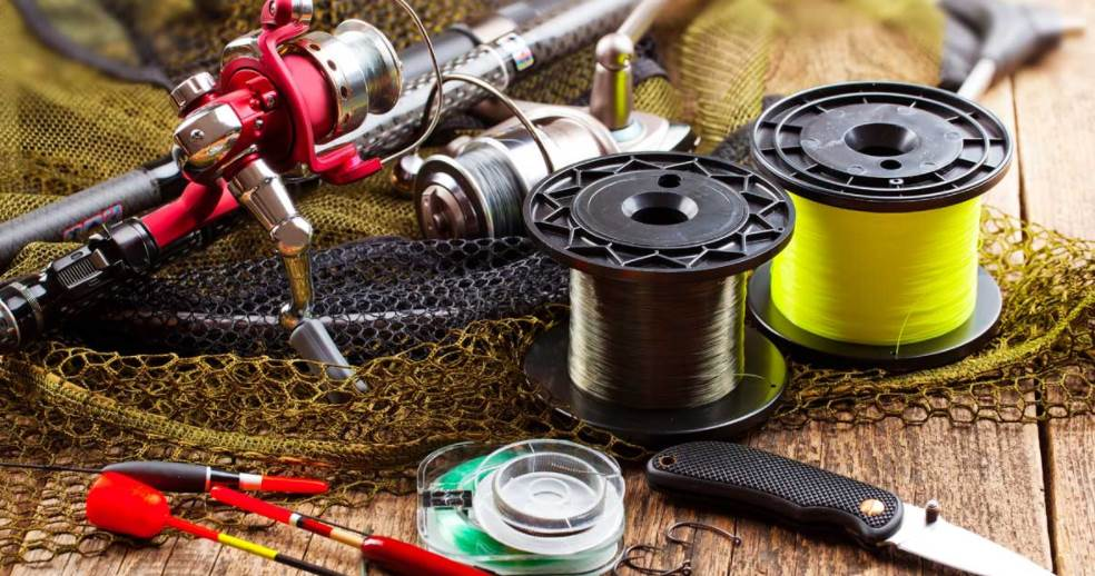 Image of two fishing line spools