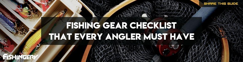 fishing gear checklist