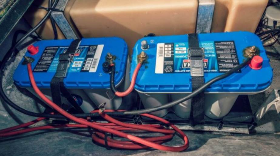 image of trolling boat batteries