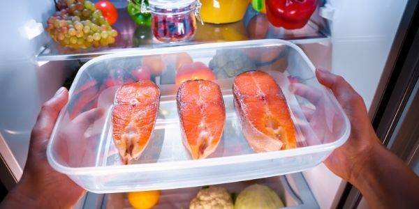 Image of fish being stored in freezer