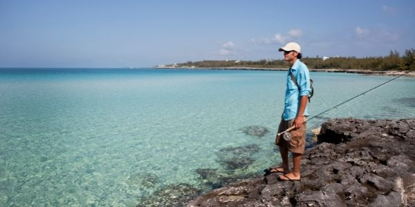 image of a person fishing in Saltwater