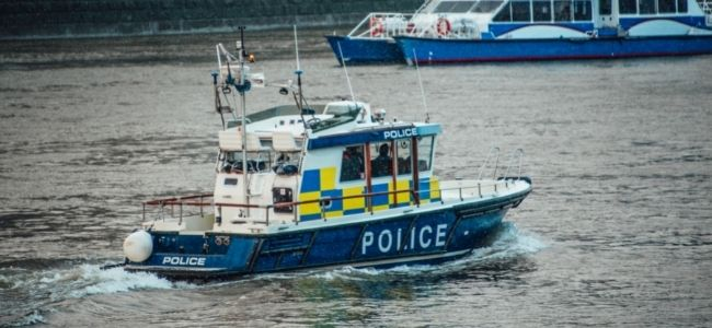 image of a police boat