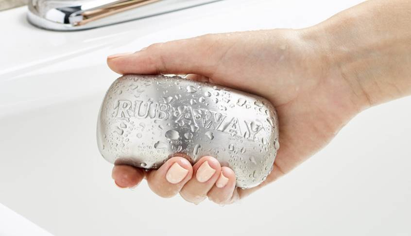 image of stainless steel bar soap