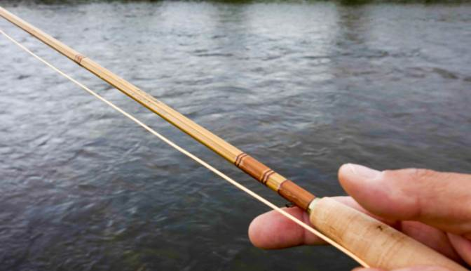 image of the bamboo fishing rod