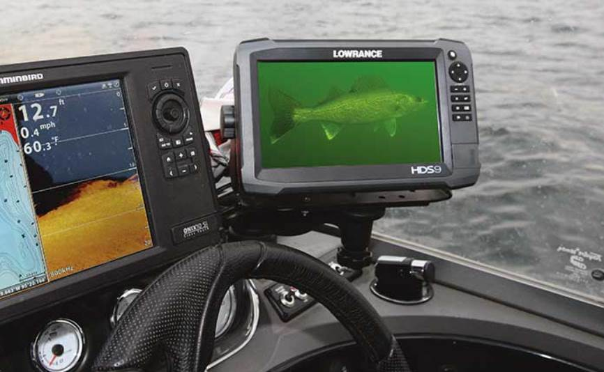 Image of a underwater fishing camera screen