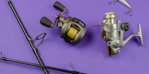 Image of two baitcasting reels