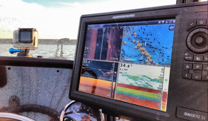 close up image of the fish finder