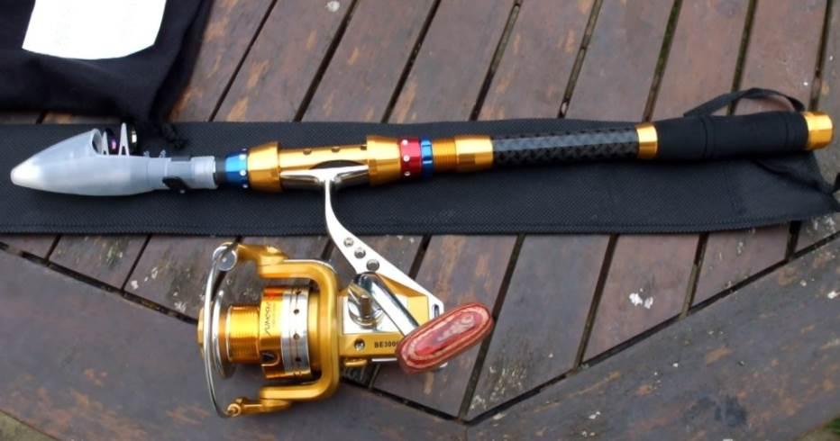 image of telescopic fishing rod