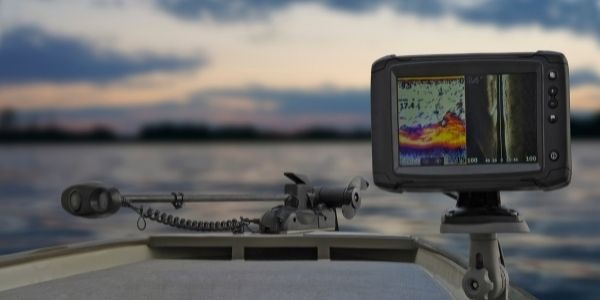 image of the fish finder showing information