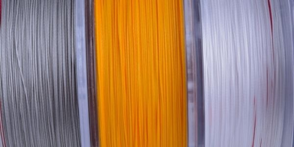 image of three fishing lines in different colors