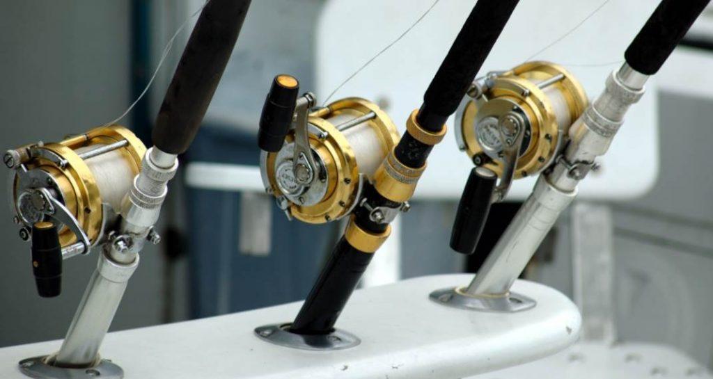 image of three fishing rods