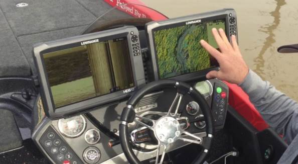 image of two monitoring screens on boat